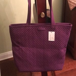 Vera Bradley Tote Iconic Bag Gloxinia Purple NWT